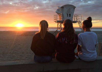 National University (USA) - Sonnenuntergang am Pacific Beach