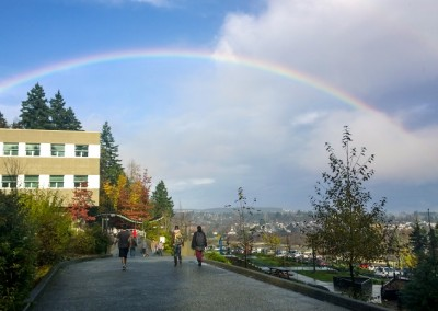 Vancouver Island University  - Rainbow over Campus