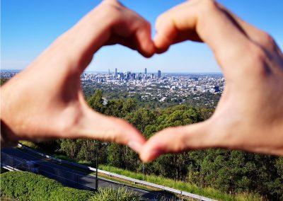 ICMS (Australien) Blick über Brisbane