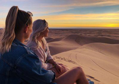 NU (USA) Sonnenuntergang an den Imperial Sand Dunes