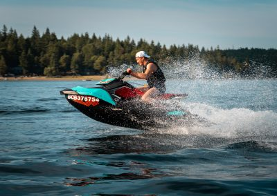 VIU (Kanada) JetSki Action auf Vancouver Island